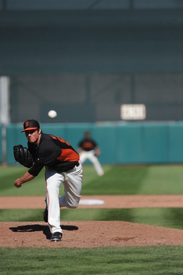Michael Kickham impressed Bruce Bochy in spring training.