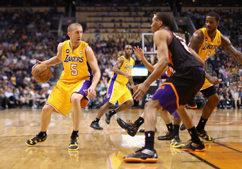 Steve Blake off the dribble.