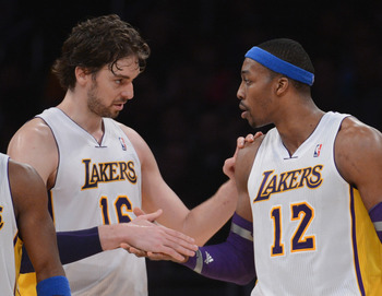 Pau Gasol (left) and Dwight Howard (right).