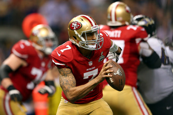 Kaepernick's ability to get outside of the pocket is almost as impressive as his cannon for an arm.