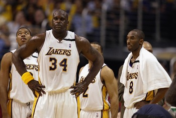 Los Angeles Lakers' Shaquille O'Neal