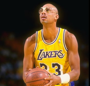 Los Angeles Lakers' Kareem Abdul-Jabbar
