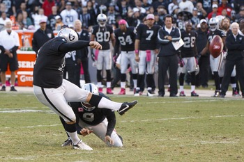 Sebastian Janikowski always seems to have a couple game-winning field goals.