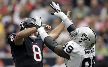The Raiders need to force Matt Schaub to win the game.