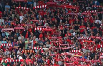 The Spion Kop have been belting out Gerry Marsden's hit since the 1960s.