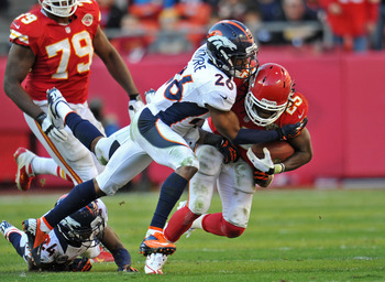The Broncos have to contain Jamaal Charles if they want to beat the Chiefs.
