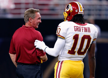 Mike Shanahan and Robert Griffin III.