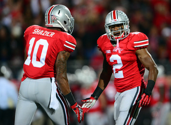 Ryan Shazier (No. 10) and Christian Bryant (No. 2) are the top leading returning tacklers for Ohio State.