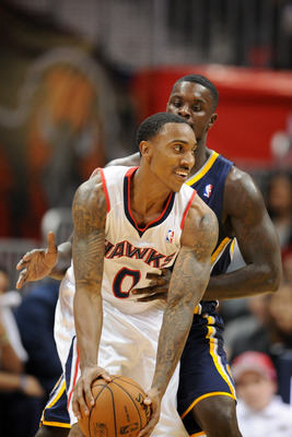 Jeff Teague is the focal point of the offense in the Hawks' Game 3 win.