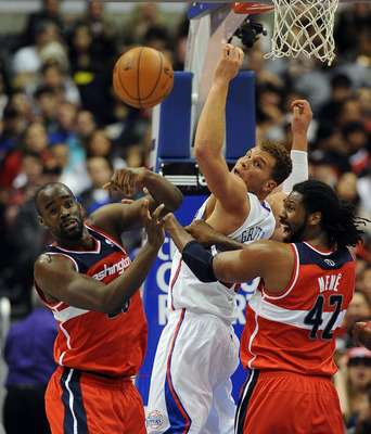 Emeka Okafor (left) was the best offensive rebounder for Washington this year, but is the only Wizard to break the top 50 in the league in that category.