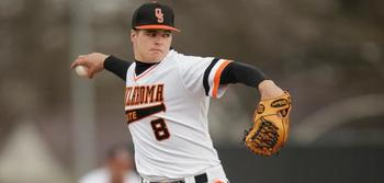 Oklahoma State's Jason Hursh has a live arm but little idea where it is going out of his hand. Courtesy of OklahomaStateAthletics.com