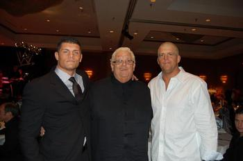 Cody Rhodes with his dad Dusty and half-brother Dustin. Photo Courtesy of Wrestlingnewsworld.com