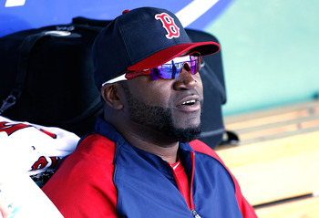 FORT MYERS, FL - MARCH 08:  Designated hitter David Ortiz #34 of the Boston Red Sox watches batting practice just before the start of the Grapefruit League Spring Training Game against the Minnesota Twins at JetBlue Park on March 8, 2013 in Fort Myers, Fl