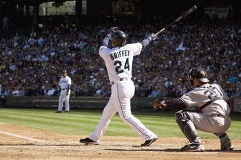This was a sight seen by many Yankee fans as Griffey clobbered the Yankees in his career.