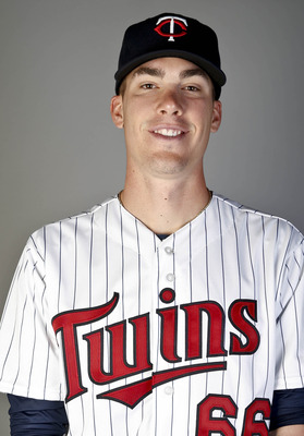 Feb 19, 2013; Fort Myers, FL, USA; Minnesota Twins pitcher Alex Meyer (66) poses for a portrait during photo day at Hammond Stadium. Mandatory Credit: Derick E. Hingle-USA TODAY Sports