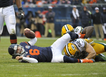Clay Matthews is effective against the Bears.
