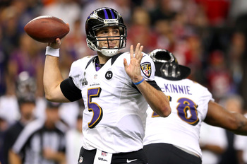 Joe Flacco is going to have to carry even more of the load on his back for the Ravens in 2013.