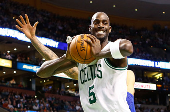 Kevin Garnett has not had much help on the glass.
