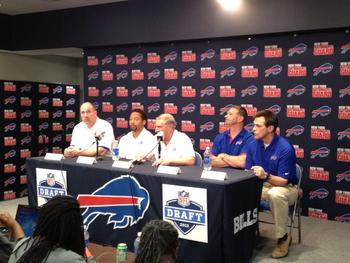 Bills Brain Trust for 2013. Photo courtesy of https://twitter.com/buffalobills/status/324191813630054401/photo/1