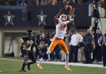 Justin Hunter keeps showing up in mock drafts at No. 41.