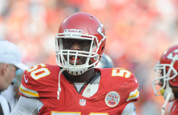 Justin Houston could cause problems for the Chargers.