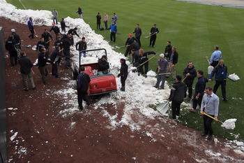 This was the scene in Denver during the Mets-Rockies series this week.