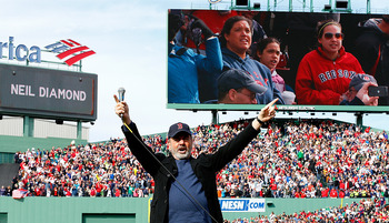 "Neil Diamond singing ""Sweet Caroline"" was just one of many great moments at Fenway Park on Saturday."