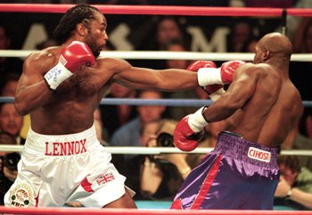 Holyfield had no answer to the Lewis Jab.