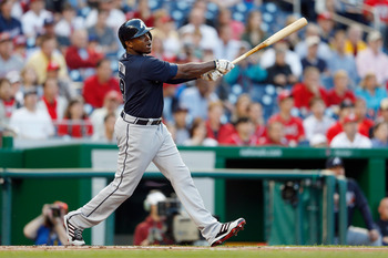 Justin Upton has established a Braves record for HR in April.