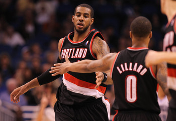 Aldridge and Lillard, along with Batum, will have this team blazing its way to the playoffs in short order.