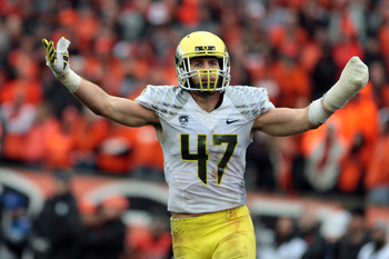 A wrist injury prevented Oregon linebacker Kiko Alonso from working out at the NFL Scouting Combine