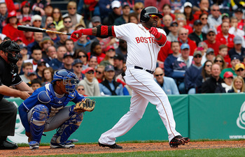 David Ortiz didn't waste any time getting back into the hitting groove.