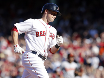 Daniel Nava provided the fireworks in the eighth inning for the Red Sox.