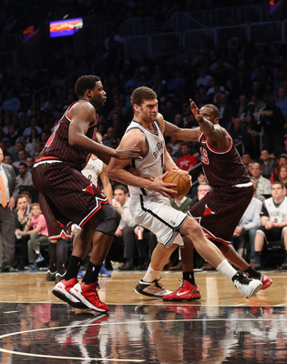 If Joakim Noah can't play, the Bulls will have no answer for Brook Lopez.