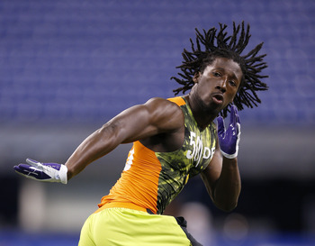 INDIANAPOLIS, IN - FEBRUARY 26: Desmond Trufant of Washington works out during the 2013 NFL Combine at Lucas Oil Stadium on February 26, 2013 in Indianapolis, Indiana. (Photo by Joe Robbins/Getty Images)