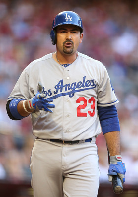 Los Angeles Dodgers' first baseman Adrian Gonzalez.