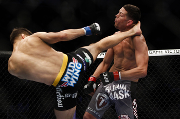 Josh Thomson and Nate Diaz - Esther Lin/MMAFighting