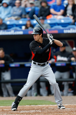Christian Yelich impressed the Marlins to the point that he was the last prospect cut from camp. Considering the Marlins porous offense, don't be surprised if the Marlins call up Yelich soon.