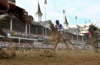 Runners in the 2012 Kentucky Derby