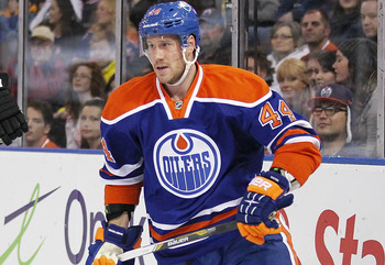 Though not flashy, Corey Potter has put together a decent season for the Oilers this year.