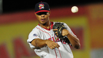 Xander Bogaerts is one of the best prospects in the game thanks in large part to his offensive upside. Courtesy of Kevin Pataky, MiLB.com