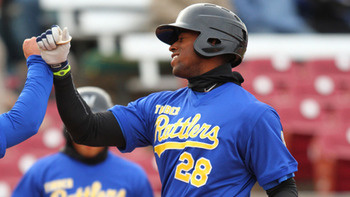 Victor Roache is one of the few potential stars in Milwaukee's system. Courtesy of Ann Molica, Wisconsin Timber Rattlers.