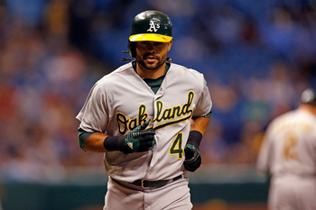 Athletics' outfielder Coco Crisp.