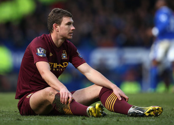 Edin Dzeko may well be playing (if you call it that) elsewhere next season.