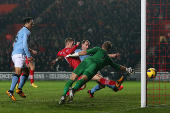 Mistakes like this one Hart made against Southampton might just be the result of exhaustion.