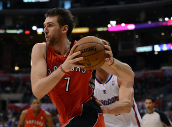 Bargnani failed to finish the season because of an elbow injury.