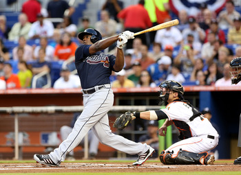 Based on the follow through, Upton probably just jacked one out with this swing.