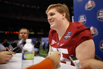 Barrett Jones was a renaissance man on the offensive line while at Alabama.