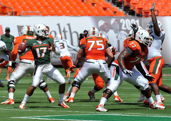 Morris had more confidence standing in the pocket during the spring game.