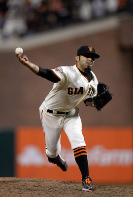Closer Sergio Romo has eight saves in 2013.